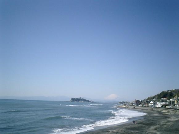 02)これも大画面で鎌倉、稲村ガ崎の公園から富士山を撮ったつもり