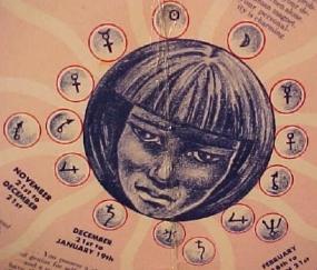 zodiac vintage girl
